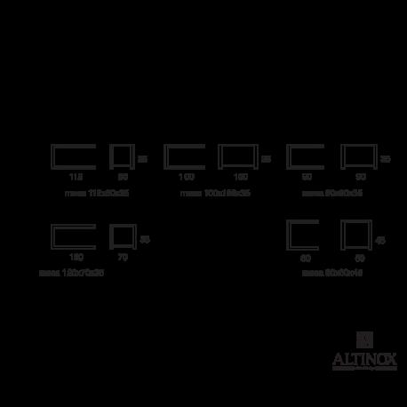 Mesa de Centro Modelo Cuadrado